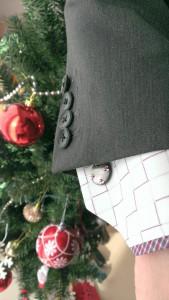 カフスとクリスマスツリー
